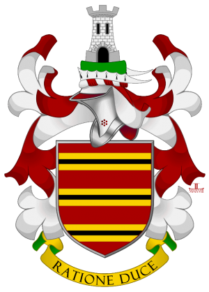 Arms of Stephen Graham Auldred Keely