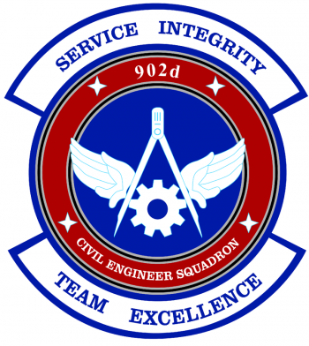 Coat of arms (crest) of the 902nd Civil Engineer Squadron, US Air Force