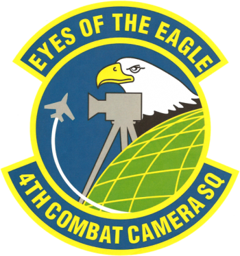 Coat of arms (crest) of the 4th Combat Camera Squadron, US Air Force