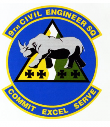Coat of arms (crest) of the 9th Civil Engineer Squadron, US Air Force