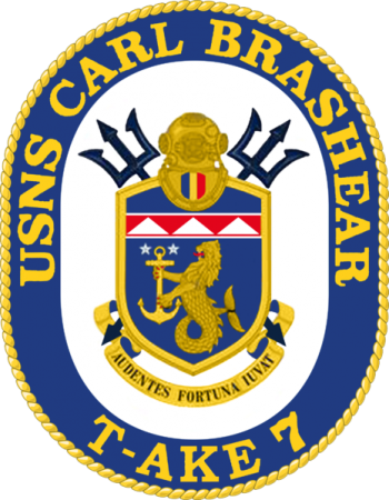 Coat of arms (crest) of the Dry Cargo Ship USNS Carl Brashear (T-AKE-7)