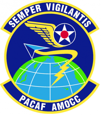 Coat of arms (crest) of the Pacific Air Forces Air Mobility Operations Control Center, US Air Force