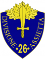26th Infantry Division Assietta, Italian Army.png