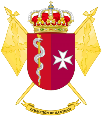 Coat of arms (crest) of the Health Directorate, Spanish Army