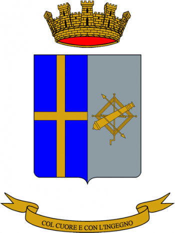 Coat of arms (crest) of the 33rd Electronic Warfare Regiment, Italian Army