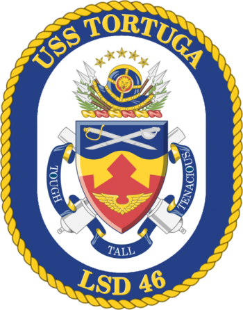 Coat of arms (crest) of the Dock Landing Ship USS Tortuga (LSD-46)