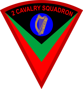 Coat of arms (crest) of the 2 Cavalry Squadron, Irish Army