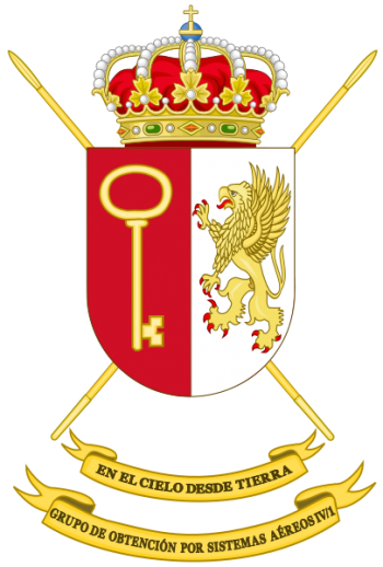 Coat of arms (crest) of the Unmanned Aerial Vehicles Group IV-1, Spanish Army