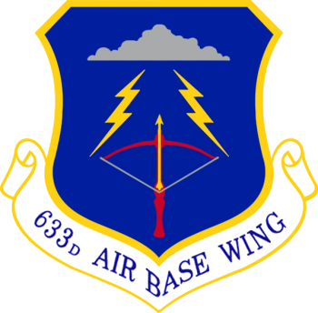 Coat of arms (crest) of the 633rd Air Base Wing, US Air Force