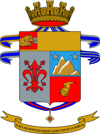 Coat of arms (crest) of the 78th Infantry Regiment Lupi di Toscana, Italian Army