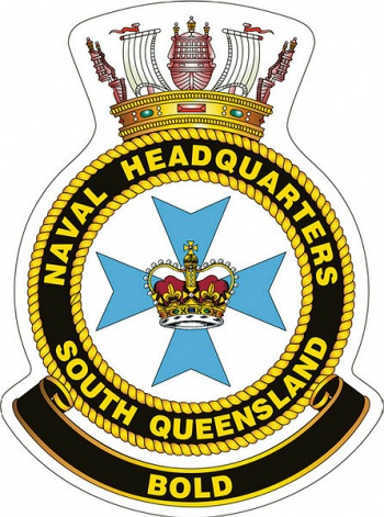 Coat of arms (crest) of the Naval Headquarters South Queensland, Royal Australian Navy
