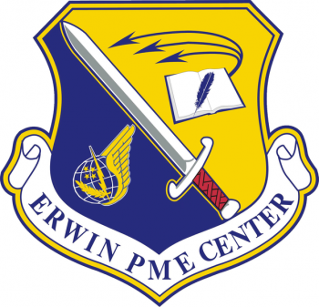 Coat of arms (crest) of the Erwin Professional Military Education Center, US Air Force