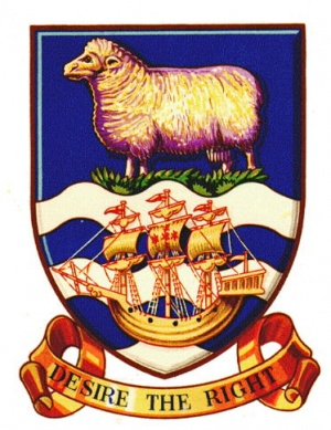 National arms of the Falkland Islands