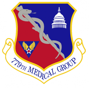 Coat of arms (crest) of the 779th Medical Group, US Air Force