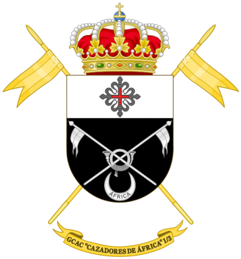 Coat of arms (crest) of the Armoured Cavalry Group Cazadores de África I-3, Spanish Army