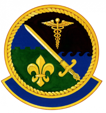 Coat of arms (crest) of the 156th Tactical Clinic, Louisiana Air National Guard