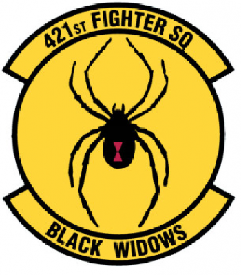 Coat of arms (crest) of the 421st Fighter Squadron, US Air Force