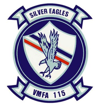 Coat of arms (crest) of the VMFA-115 Silver Eagles, USMC
