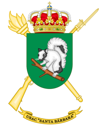 Coat of arms (crest) of the Barracks Services Unit Santa Barbára, Spanish Army