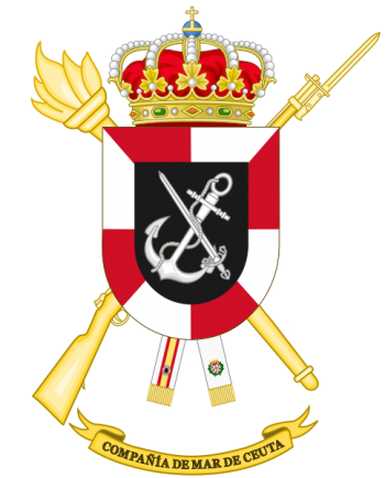 Coat of arms (crest) of the Ceuta Sea Company, Spanish Army
