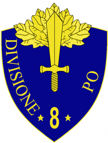 Coat of arms (crest) of the 8th Infantry Division Po, Italian Army
