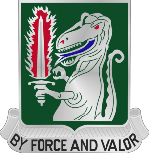 Arms of 40th Cavalry Regiment (formerly 40th Armor), US Army