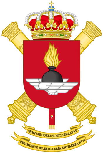 Coat of arms (crest) of the 74th Air Defence Artillery Regiment, Spanish Army