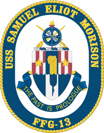 Coat of arms (crest) of the Frigate USS Samuel Eliot Morison (FFG-13)