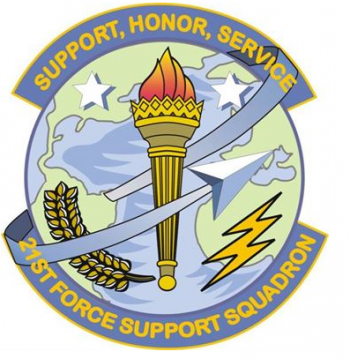 Coat of arms (crest) of the 21st Force Support Squadron, US Air Force