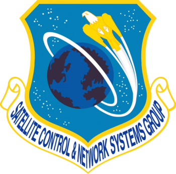 Coat of arms (crest) of the Satellite Control & Network Systems Group, US Air Force