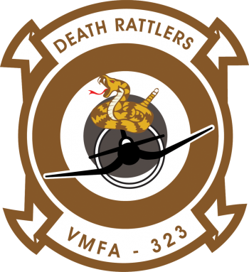 Coat of arms (crest) of the VMFA-323 Death Rattlers, USMC