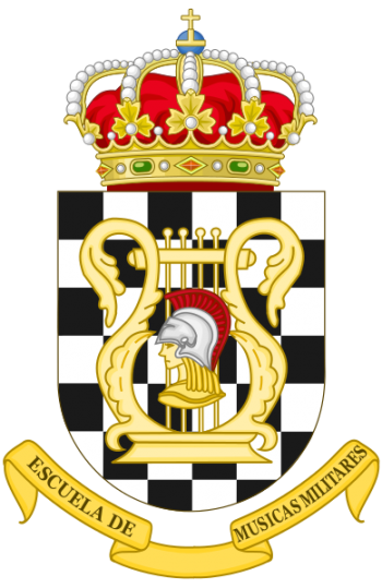 Coat of arms (crest) of the Military School of Music, Spain
