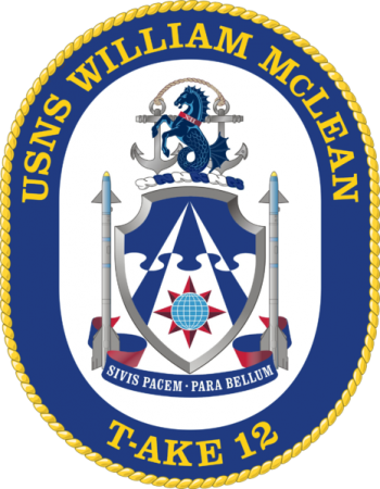 Coat of arms (crest) of the Dry Cargo Ship USNS William McLean(T-AKE-12)