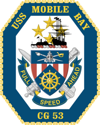 Coat of arms (crest) of the Cruiser USS Mobile Bay