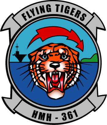 Coat of arms (crest) of the Marine Heavy Helicopter Squadron (HMH)-361 Flying Tigers, USMC