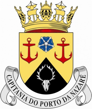 Coat of arms (crest) of the Harbour Captain of Nazaré, Portuguese Navy