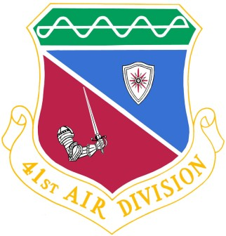 Coat of arms (crest) of the 41st Air Division, US Air Force