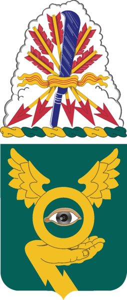 Coat of arms (crest) of the 1st Military Intelligence Battalion, US Army