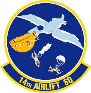 Coat of arms (crest) of the 14th Airlift Squadron, US Air Force