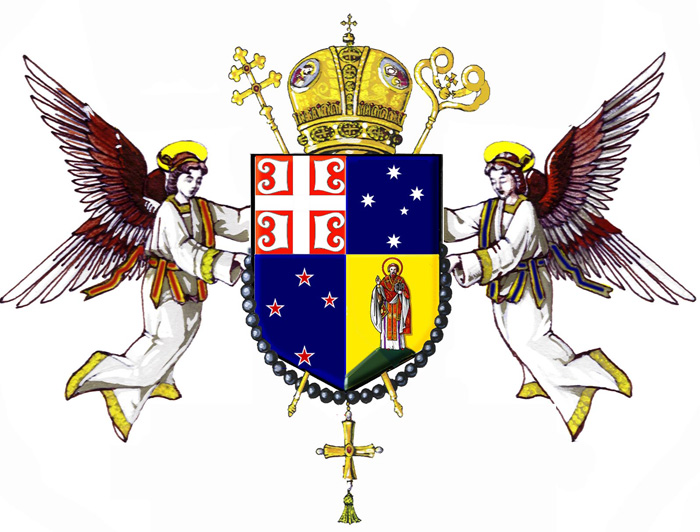 center Arms of Metropolitanate of Australia and New Zealand, Serbian Orthodox Church