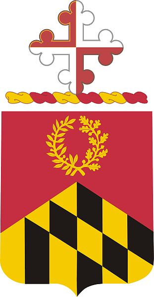 Coat of arms (crest) of the 110th Field Artillery Regiment, Maryland Army National Guard