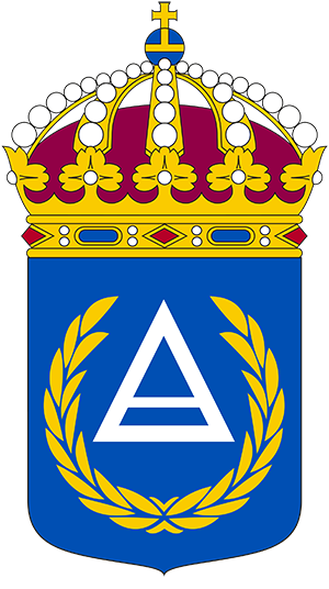 Coat of arms (crest) of the Base Commanders School, Sweden