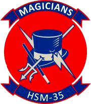 Coat of arms (crest) of the Helicopter Maritime Strike Squadron 35 (HSM-35) Magicians, US Navy