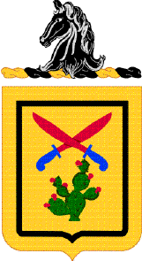 Coat of arms (crest) of the 11th Cavalry Regiment, US Army