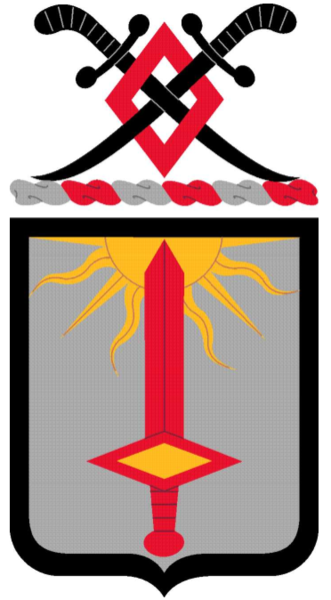 Coat of arms (crest) of the 1st Finance Battalion, US Army