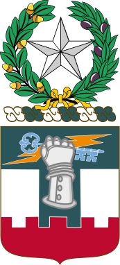 Coat of arms (crest) of the 156th Engineer Battalion Texas Army National Guard