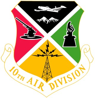 Coat of arms (crest) of the 10th Air Division, US Air Force