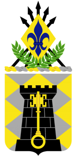 Coat of arms (crest) of the 208th Finance Battalion, US Army