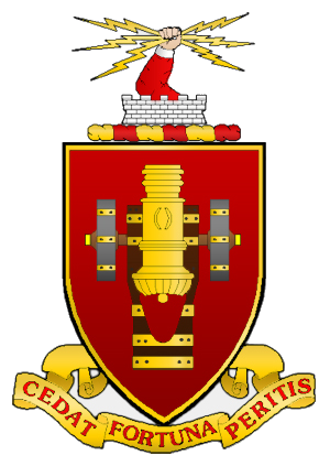 Coat of arms (crest) of the Field Artillery School, US Army