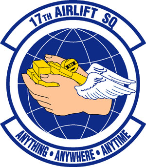 Coat of arms (crest) of the 17th Airlift Squadron, US Air Force